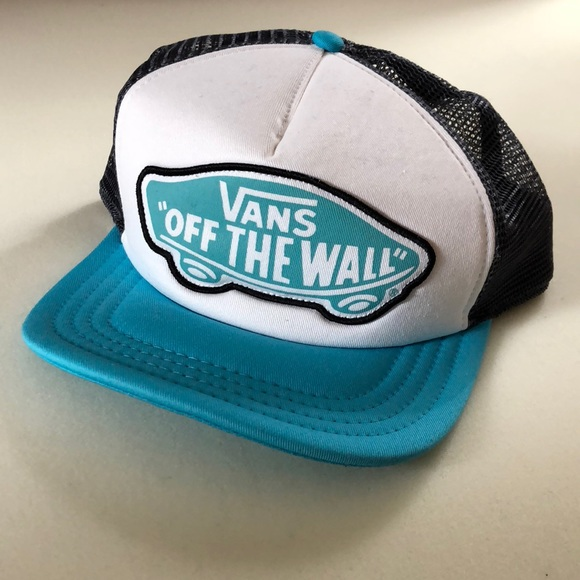 7424be7afed Brand new Vans off the wall blue trucker hat